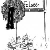 Illustration zum österreichischen Rechtsterrorismus, Copyright by Katharina Prazuch