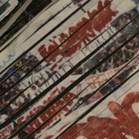 Ein zerschnittes Foto einer Demonstration der Solidarność-Bewegung Foto: Georg Grigoriadis