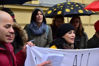 HOR 29 NOVEMBAR solidarisiert sich mit den sozialen Kämpfen in Bosnien-Herzegowina. Foto: Dieter Diskovic