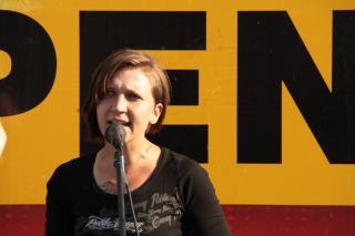 NPD Aktivistin Maria Frank. Foto: apabiz Berlin