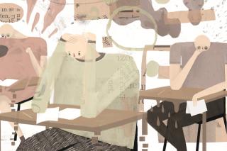 Illustration zu K.O. Prüfungen im ersten Semester, © by Richard Klippfeld