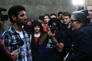 Mir Jahangir im Gespräch mit Eva Blimlinger. Foto: Christina Musa Mylko