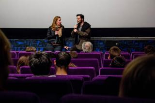 Regisseur Brameshuber diskutierte bei der Diagonale 2014 im KIZ Royal mit KinobesucherInnen über seinen Film. Foto: Rumpf