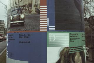 Foto von Diagonale-Plakaten