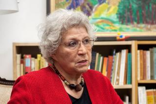 """""""Leider bleiben viele HistorikerInnen bei ihren Forschungen zur Shoah in den Zahlen stecken"""", kritisiert Angelica Bäumer. Foto: Sarah Langoth"""