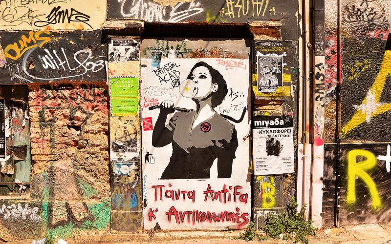 Streetart in Exarchia. Foto: Dieter Diskovic