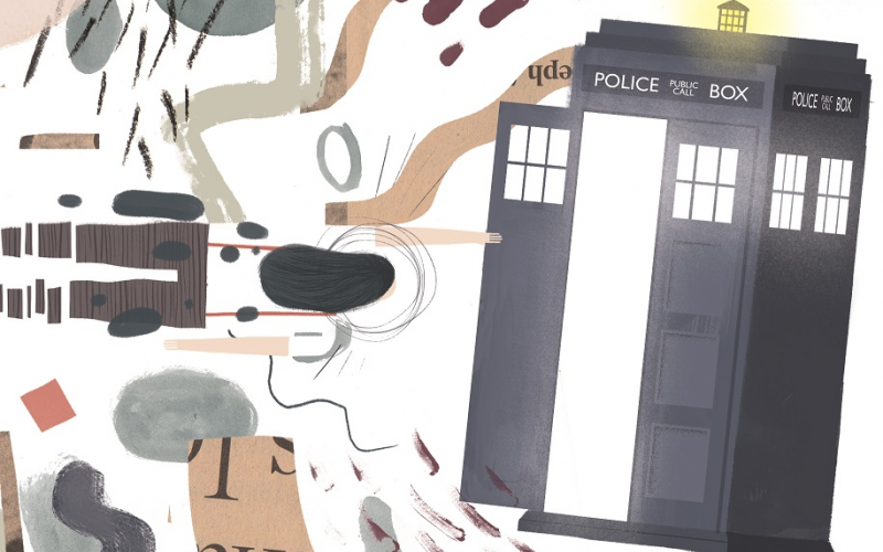 Illustration zu Doctor Who, © by Richard Klippfeld