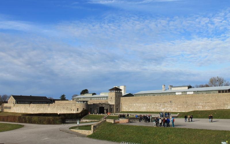 Blick auf die Gedenkstätte Mauthausen. Fotos: Nina Aichberger