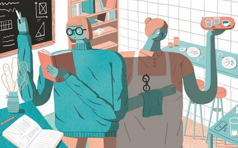 Illustration zum Studieren und Arbeiten Artikel, Copyright by Richard Klippfeld