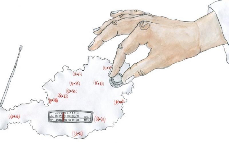 Illustration zu freien Radios, Copyright by Ksenia Disterhof