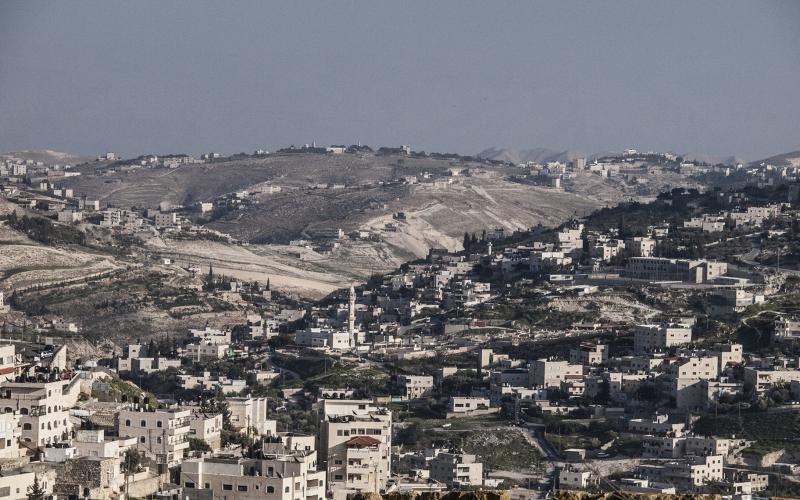 Eine Stadt-Landschaft in Israel