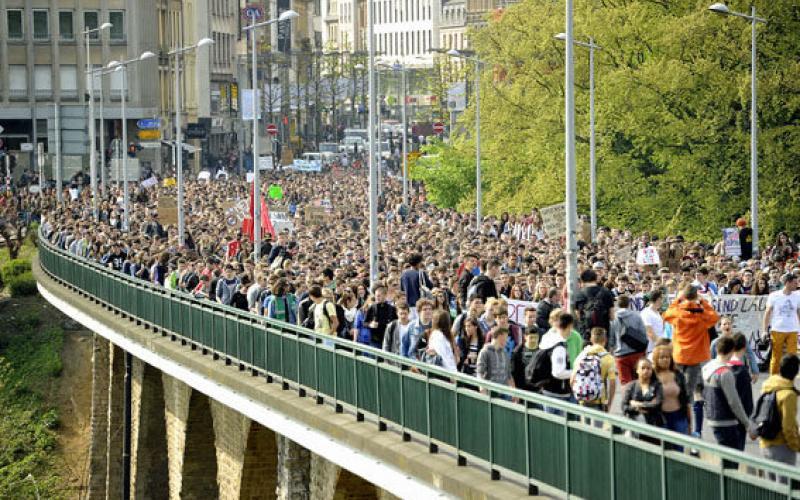 Studierendenproteste in Luxemburg