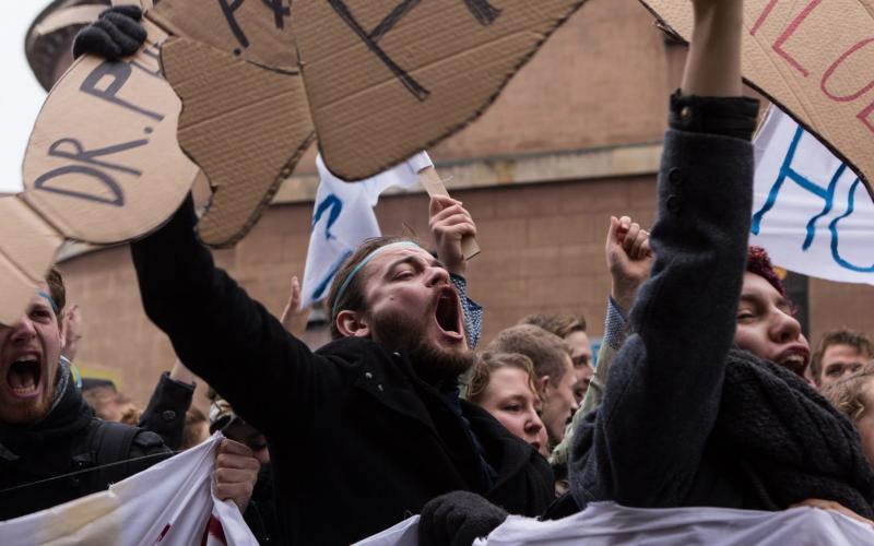 In Dänemark protestierten Studierende erfolgreich gegen eine Beschleunigungsreform. Foto: Rasmus Preston