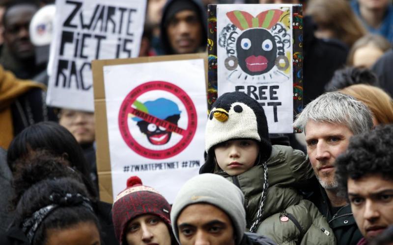 Protest gegen die Figur Zwarte Piet 2013. Foto: ANP